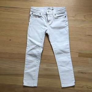 Vineyard Vines girls white skinny jeans